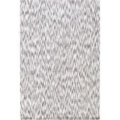 "Dash and Albert Rugs Ikat Grey/White Area Rug Rug Size: Runner 2'5"" x 12'"