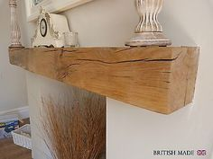 SOLID OAK BEAM FLOATING SHELF MANTLE AIR DRIED RECLAIMED in Home, Furniture & DIY, Fireplaces & Accessories, Mantelpieces & Surrounds | eBay
