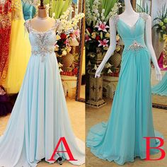 Real Image Light Sky Blue Red Chiffon Crystal Prom Dresses for Party Beads Backless Evening Celebrity Pageant Evening Gowns Plus Size 2015 Online with $136.65/Piece on Gaogao8899's Store | DHgate.com