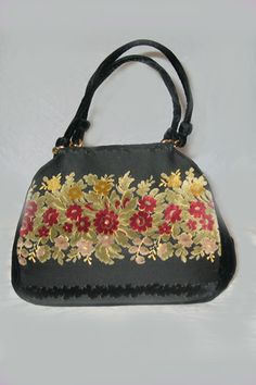 Bienen Davis cut velvet handbag