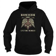 KONICEK Family Lifetime Member - Last Name, Surname TShirts