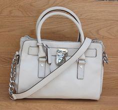6c3b840da0fb Michael Kors Handbag Medium Hamilton Satchel Tote Shoulder Bag Vanilla  Beige #MichaelKors #SatchelShoulderBag