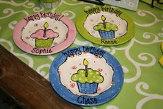 have to remember Campbell's b'day plate this year!!!!  Personalized Birthday Plate by tracybond on Etsy, $30.00