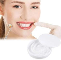 SHOW OFF YOUR SMILE WITH CONFIDENCE Safest Cosmetic Tooth cover no Dental Visit Necessary Made in USA and FDA Approved Each person on this planet owns a different set of teeth that is why we will introduce you to a product that can give that IDEAL SMILE to every person regardless what kind of teeth they have Introduci Dental Braces, Teeth Braces, Dental Teeth, Dental Care, Perfect Smile Teeth, Misaligned Teeth, Invisible Braces, Veneers Teeth, Safe Cosmetics