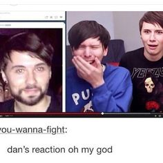 Danny Philly says no facial hair do as your boyfriend says. Lol naw but do as Phil says he has to see you everyday. British Youtubers, Best Youtubers, Oki Doki, Phan Is Real, Dan And Phill, Phil 3, Danisnotonfire And Amazingphil, Tyler Oakley, Phil Lester