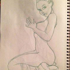 "Dan Almanzar on Instagram: ""Ballerina @jengiggles #art #artfun #artnerd #sketch #sketchs #sketches #drawdrawdraw #1WonkaGirl #boomBoom"""