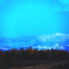 Talkeetna Alaska late evening.
