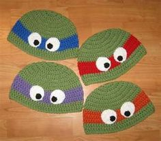 TMNT Teenage Mutant Ninja Turtles Crochet Hat...sam stone would never take this off!!!!!