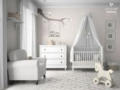 17 Best Minimalist Gender Neutral Baby Nursery Ideas - mybabydoo One thing to be prepared when expecting a baby is a nursery room. We provide the examples of gender neutral baby nursery for every parents who loves it. Baby Nursery Neutral, Baby Nursery Decor, Nursery Room, Babies Nursery, Grey White Nursery, Nursery Wall Stickers, Baby Decor, Girl Nursery, Baby Boy Rooms