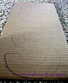 DIY Cardboard Lettering.. way cheaper than wood!!