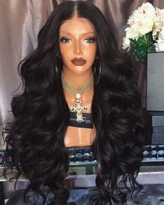 Wavy Long Wigs For African American Women The Same As The Hairstyle In The Picture - Wigs For Black Women - Lace Front Wigs, Human Hair Wigs, African American Wigs, Short Wigs, Bob Wigs Long Wigs, Short Wigs, Long Thin Hair, Short Hair, Blond Ombre, Kinky Curly Wigs, Body Wave Wig, Human Hair Lace Wigs, Wigs For Black Women