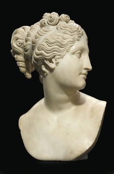 Antonio Canova - A CARVED MARBLE BUST OF VENUS, marble