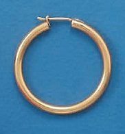 14K Gold Plated Sterling Silver Hoop Earrings, 2.8x32mm, Click, Sold in Pairs Silver Messages. $64.99. Save 32%!