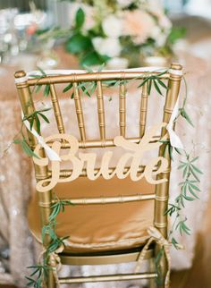 The bride's chair