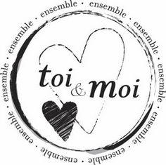 Florilèges - Tampon bois - Toi et moi ensemble
