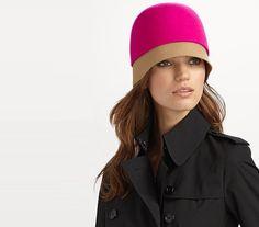 Super cool colorblocking cloche hat