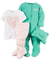 Carter's Baby Girls' 4-Piece Patterned Layette set