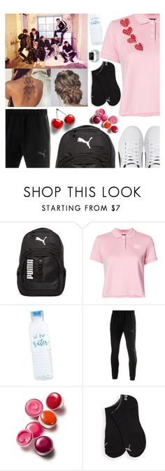 """Puma & BTS"" by carol-comt ❤ liked on Polyvore featuring Puma, Clinique, puma and bts"