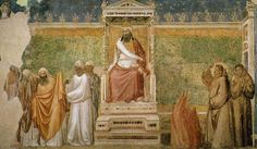 Giotto di Bondone  St. Francis Before the Sultan  (Trial by Fire)  1325  Bardi Chapel, Santa Croce  Florence, Italy