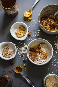 Ingredients for a Single Serving Pumpkin Muffin ~ Edible Perspective