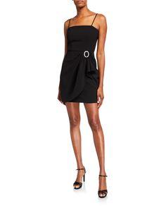 Parker Black Klum Stretch Crepe Mini Dress In Black Crepe Dress, Silk Crepe, Stella Mccartney Dresses, Parker Black, Draped Skirt, Black Midi Dress, Latest Fashion Trends, Fit And Flare, Short Dresses