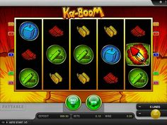 Ka-Boom - http://freeslots77.com/ka-boom/ - If you want to play a slot laden with some explosive actions and plenty of surprises, you should try Ka-Boom. Developed by Merkur Gaming, the 5-reel and 5-payline slot come with a nominal betting range that starts from 0.01 and rests at 2.00 per line. However, the low betting range will not...