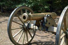 Bronze Model 1841 6-Pounder Gun. A common cannon in the Civil War.