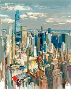 Feed | LinkedIn Nyc Skyline, Global Art, Land Art, Art Day, Insta Art, Landscape Paintings, Times Square, The Incredibles, Gallery
