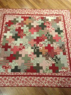 French General queen bed quilt topper by QuiltedhugsbySue on Etsy