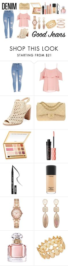 """""""Spring Day"""" by pink-wednesdays ❤ liked on Polyvore featuring BB Dakota, Renvy, Chanel, tarte, Charlotte Tilbury, Benefit, Kat Von D, MAC Cosmetics, Michael Kors and Guerlain"""