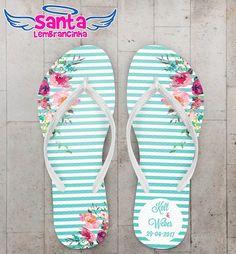 Chinelo Casamento Listras Azul COD 3695 Havanna Party, Flip Flop Sandals, Flip Flops, My Pool, Designer Sandals, Jewlery, Wedding Inspiration, Floral, Shoes