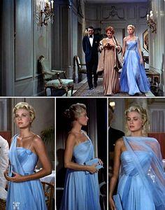 Top 10: vestidos que cambiaron la historia del cine - vestido-azul-grace-kelly-to-catch-thief
