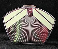 Vintage Art Deco Powder Compact (Powder, Mirror Compacts, Compact Purses) at Decotique