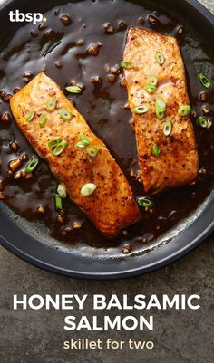 Whether you're a pro at turning out beautiful salmon dinners, or this is your first try, this gorgeous pan-seared salmon drizzled with tangy honey-balsamic sauce is guaranteed to earn you major bragging rights.