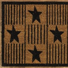Park Designs Primitive Star Doormat ** See this great product. (This is an affiliate link and I receive a commission for the sales) Primitive Stars, Primitive Homes, Country Primitive, Glass Front Door, Front Door Decor, Floor Runners, Hall Runner Rugs, Long Rug, Floral Area Rugs