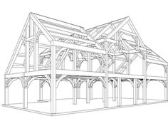 Timber Frame Design  Timber Frames hold the structure of the building and the space between the timbers can be filled with straw bales & plastered.