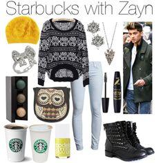 Starbucks with Zayn - Polyvore