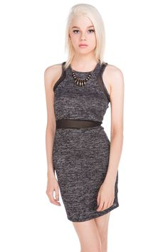 Sheer Insert Bodycon Dress