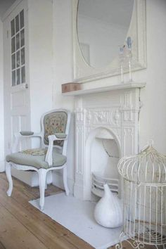 1000 images about shabby chic fireplaces on pinterest for Finto camino shabby