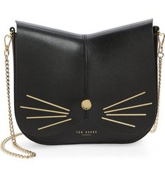 Ted Baker London Ted Baker London Cat Leather Crossbody Bag available at Black Leather Crossbody Bag, Crossbody Shoulder Bag, Shoulder Handbags, Leather Purses, Leather Shoulder Bag, Leather Handbags, Shoulder Bags, Purse Crossbody, Burberry Handbags