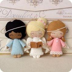 moldes y patrones para hacer angelitos de fieltro (4)
