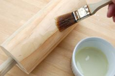 When you first get your NEW wooden cooking rolls, they will need to be seasoned. You do this with cooking oil. For 3 or 4 times per day, paint the wooden cooking roll with oil. Do this for 3 or 4 days so that the oil soaks into the wood.