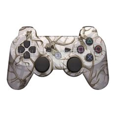 Custom PS3 controller Wireless Glossy WTP-599-Skullworks-on-White Custom Painted