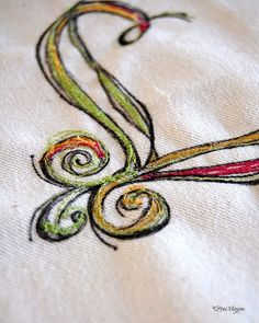not that I can embroider, but it's pretty! Free Motion Embroidery, Embroidery Thread, Machine Embroidery, Embroidery Designs, Thread Art, Thread Painting, Needle And Thread, Sewing Baskets, Quilt Stitching