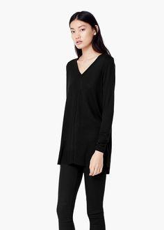 Jersey cuello pico | MANGO