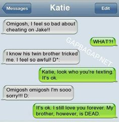 Hilarious Text Message By Cheating Girlfriend