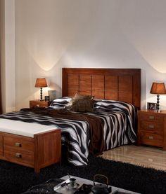 Dormitorio de madera de teca de estilo colonial