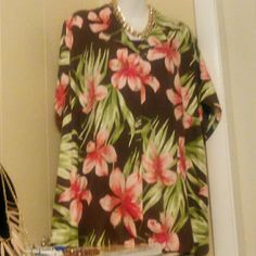 VALERIE  STEVENS CASUAL WOMAN Product description: * size: 1X * color: multiple * style: floral DESIGN: * 100%  silk Made in China Care: machine wash cold Delicate, line dry, cool iron No chlorine Valerie Stevens Tops Button Down Shirts