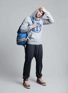 Dawid Schaffranke shot for TENMAG by Pablo Curto #fashion #men #hoodie #sport