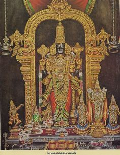 Sri VARADARAJASWAMY (Kanchipuram-Tamil Nadu) The temple is situated in Vishnu Kanchi, also known as the Little Kanchipuram.  The Moolasthana is on a little hillock called Hasthagiri.